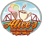 Alice's Ice Cream and Coffee Shop Logo